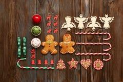 Christmas homemade decoration flat lay Stock Photo