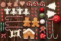 Christmas homemade decoration flat lay Stock Image
