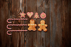 Christmas homemade decoration flat lay Stock Images