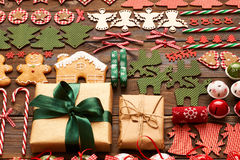 Christmas homemade decoration flat lay Stock Image