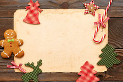 Christmas homemade decoration Royalty Free Stock Images