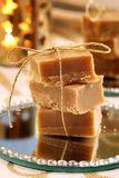 Christmas homemade fudge on the table Stock Images
