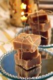 Christmas homemade fudge on the table Royalty Free Stock Photos