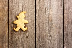 Christmas homemade gingerbread cookie Stock Photos