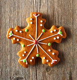 Christmas homemade gingerbread cookie Royalty Free Stock Photography