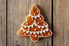 Christmas homemade gingerbread cookie Royalty Free Stock Images