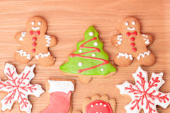 Christmas homemade gingerbread cookies Stock Photos