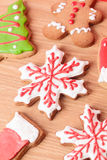 Christmas homemade gingerbread cookies Royalty Free Stock Images