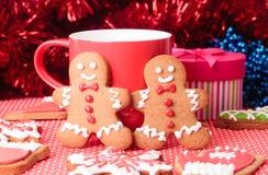 Christmas homemade gingerbread cookies Stock Photos