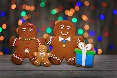 Christmas homemade gingerbread cookies on table Stock Image