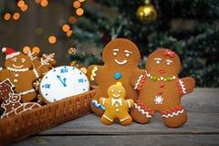 Christmas homemade gingerbread cookies on table Stock Photo
