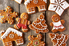 Christmas homemade gingerbread cookies Stock Photography