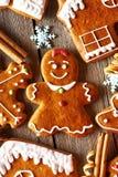 Christmas homemade gingerbread cookies Stock Photo