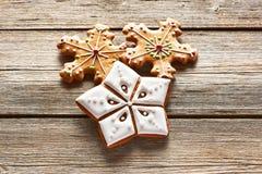 Christmas homemade gingerbread cookies Stock Image