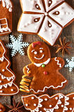 Christmas homemade gingerbread cookies Stock Images