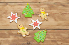 Christmas homemade gingerbread cookies Royalty Free Stock Photo