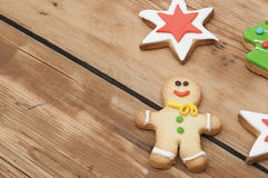 Christmas homemade gingerbread cookies Royalty Free Stock Image