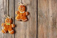Christmas homemade gingerbread couple cookies Stock Photography
