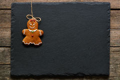 Christmas homemade gingerbread girl cookie Stock Photo