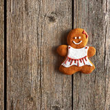 Christmas homemade gingerbread girl cookie Royalty Free Stock Image