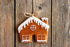 Christmas homemade gingerbread house cookie Royalty Free Stock Image