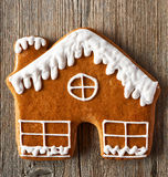 Christmas homemade gingerbread house cookie Stock Images
