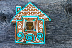 Christmas homemade gingerbread house Stock Images