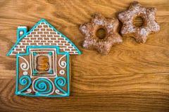Christmas homemade gingerbread house Stock Photos