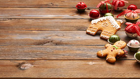 Christmas homemade gingerbread man cookie Stock Photography