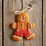 Christmas homemade gingerbread man cookie Stock Photo