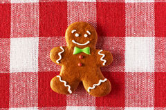 Christmas homemade gingerbread man cookie Royalty Free Stock Images
