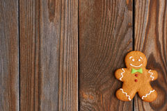 Christmas homemade gingerbread man cookie Royalty Free Stock Photo