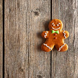 Christmas homemade gingerbread man cookie Stock Images