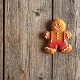 Christmas homemade gingerbread man cookie Stock Image