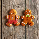 Christmas homemade gingerbread man cookies Royalty Free Stock Photography
