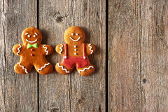 Christmas homemade gingerbread man cookies Stock Photo