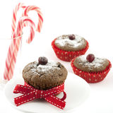 Christmas Homemade  Muffins Stock Photo