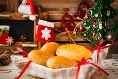 Christmas homemade pies Royalty Free Stock Photo