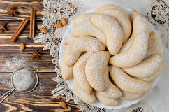 Christmas homemade sugar cookies Crescent Stock Image