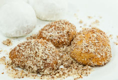 Christmas honey cakes with nuts Royalty Free Stock Photography
