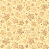 Christmas honey-cakes seamless background Stock Photos