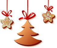 Christmas honey-cakes on the white Royalty Free Stock Image