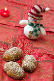 Christmas Honey Cookies with Walnuts Royalty Free Stock Photos