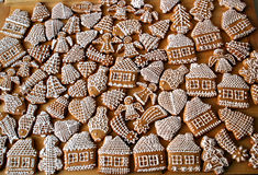 Christmas Honey Gingerbread. In assorted designs Stock Photos