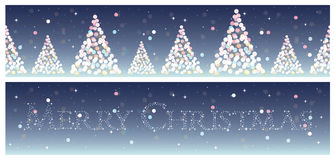 Christmas horizontal backgrounds set Stock Image