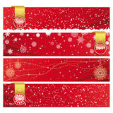 Christmas Horizontal Banner Royalty Free Stock Photo