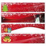 Christmas Horizontal Banner Royalty Free Stock Photography
