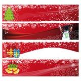 Christmas Horizontal Banner Royalty Free Stock Photography
