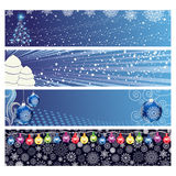 Christmas Horizontal Banner Royalty Free Stock Photos