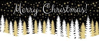 Christmas horizontal banner Stock Image